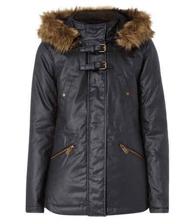 Pepe Jeans Parka »Pepe Jeans Winter-Jacke modische Damen Jacke aus beschichteter Baumwolle Freizeit-Jacke Schwarz«