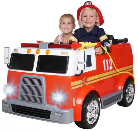 Actionbikes Motors Elektro-Kinderauto »Kinder Elektroauto Feuerwehr LL911«, Belastbarkeit 40 kg, für 2 Kinder - inkl. Fernbedienung