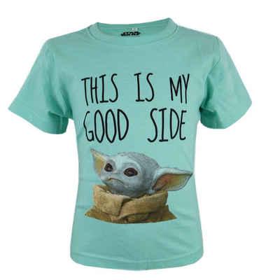 Star Wars T-Shirt »Meister Yoda« Kinder kurzarm Shirt, 100% Baumwolle
