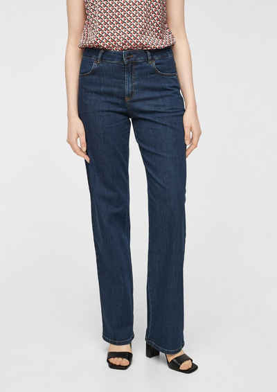 Comma 5-Pocket-Jeans »Slim Fit: Dunkle Wide leg-Jeans« Waschung