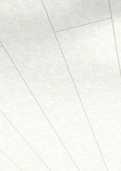 PARADOR Verkleidungspaneel »Style«, BxL: 18,2x128 cm, 1,4 qm, (Set, 6-tlg) floral weiß
