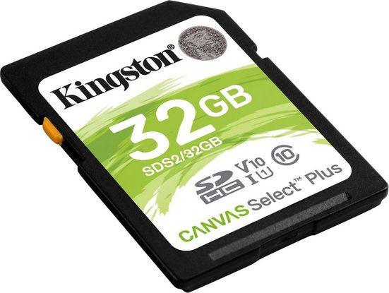 Kingston »Canvas Select Plus SD« Speicherkarte (Lesegeschwindigkeit 100 MB/s)