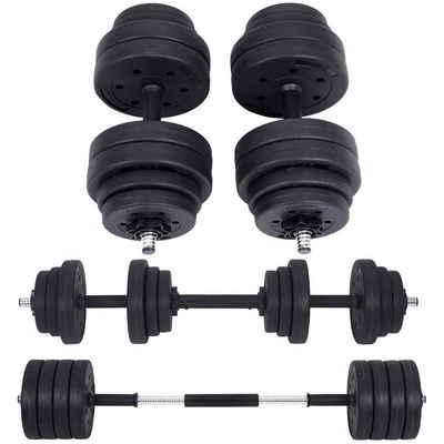 SONGMICS Hantel »SYL20HBK SYL30HBK«, 30 kg, Kurzhantelset, 30 kg, Fitnesstraining, 1 Paar, schwarz