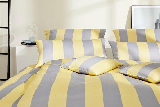 Bettwäsche »Lines«, Elegante, mit zweifarbeigen Blockstreifen
