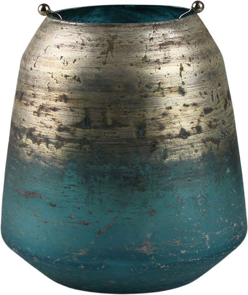 AM Design Windlicht »Shabby Chic« (1 Stück), aus Glas mit Metalleinsatz