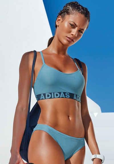 adidas Performance Bustier-Bikini mit Markenschriftzügen