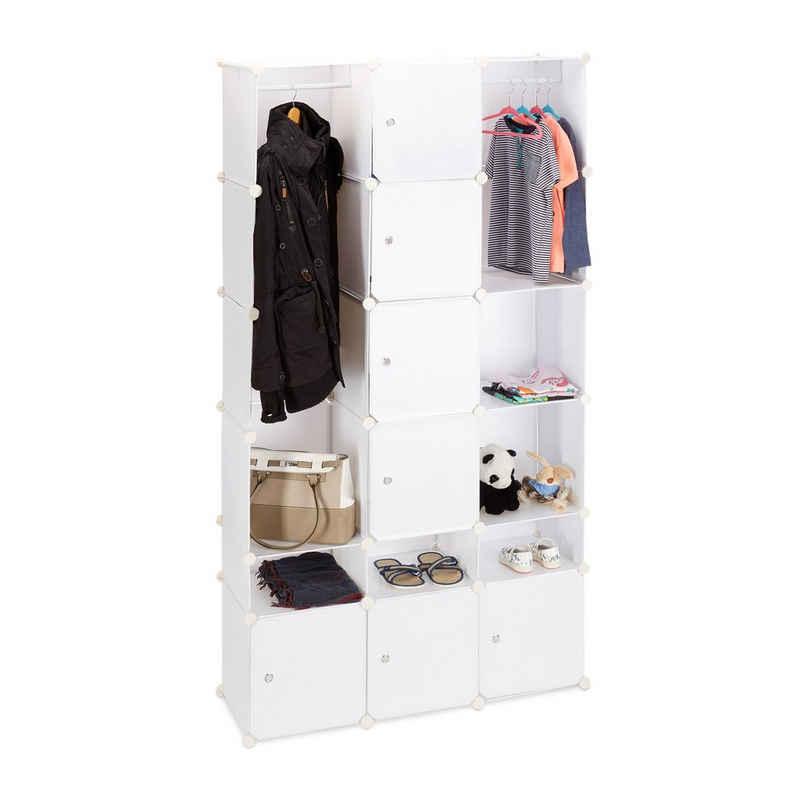 relaxdays Kleiderschrank »XXL Kleiderschrank mit Stecksystem«