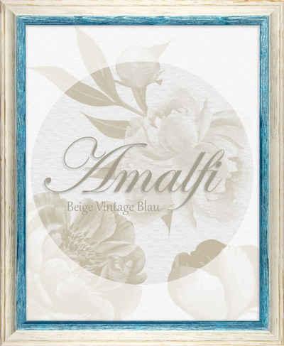 BIRAPA Bilderrahmen »Bilderrahmen Amalfi«, (1 Stück), 20x20 cm, Blau Weiß Vintage, Holz