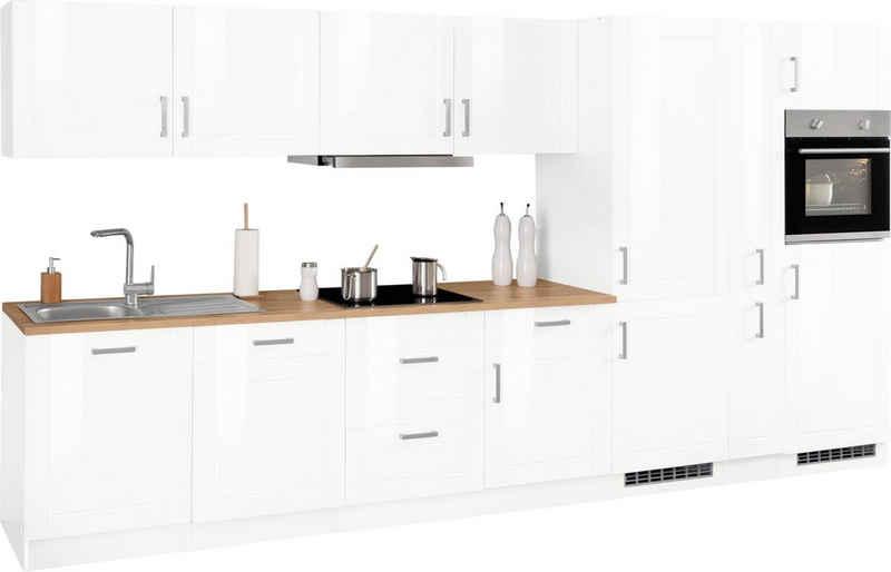 HELD MÖBEL Küchenzeile »Tinnum«, mit E-Geräten, Breite 390 cm