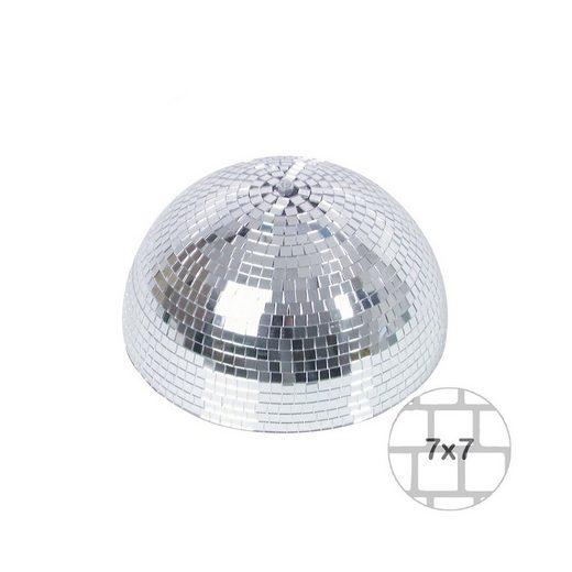SATISFIRE Discolicht »Spiegelkugel halb 30cm - für Deckenmontage - Diskokugel Echtglas - 7x7mm Spiegel - PREMIUM«