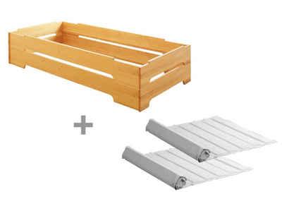 BioKinder - Das gesunde Kinderzimmer Stapelbett »Kai«, 2er Set 90x200 cm Gästebett mit Lattenrost