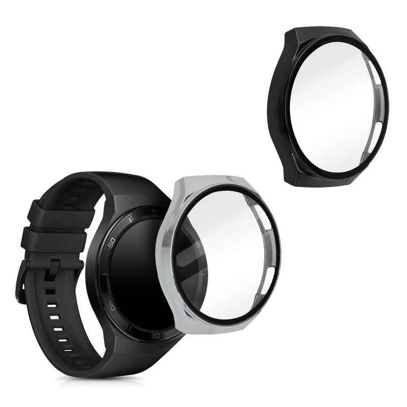 kwmobile Smartwatch-Hülle, 2x Hülle für Huawei Watch GT 2e - Fullbody Fitnesstracker Cover Case Schutzhülle Set