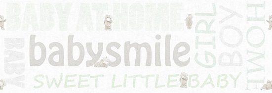 living walls Bordüre »Little Stars«, glatt, Borte mit Schrift Kinderzimmer, Vlies, PVC-frei