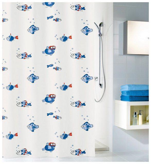 Kleine Wolke Duschvorhang FREDDY Blau 180 x 200 cm