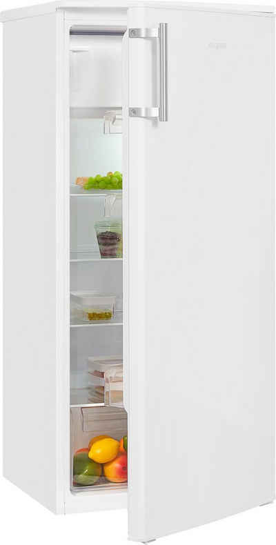exquisit Kühlschrank KS185-3-H-040F weiss, 122 cm hoch, 55 cm breit