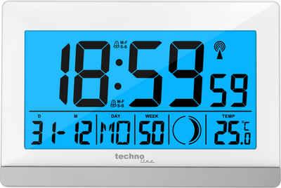 technoline Funkwecker »WS 8056« mit 2 Weckalarmen und Mondphasenanzeige