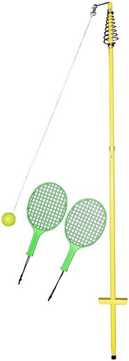 Tennisschläger »64008 Circletennis - Twistball gelb« (Set, 4-tlg), mit Stange und Ball