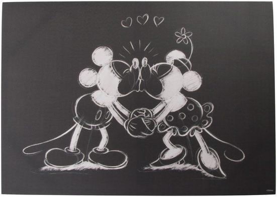 Art for the home Leinwandbild »MICKEY KISSING«