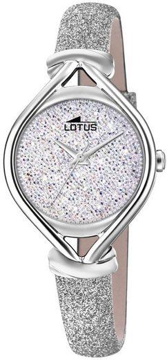 Lotus Quarzuhr »UL18601/1 LOTUS Damen Uhr Fashion 18601/1 Leder«, (Analoguhr), Damen Armbanduhr oval, rund, Lederarmband silber
