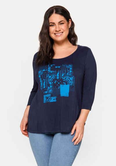 Sheego 3/4-Arm-Shirt mit Frontdruck