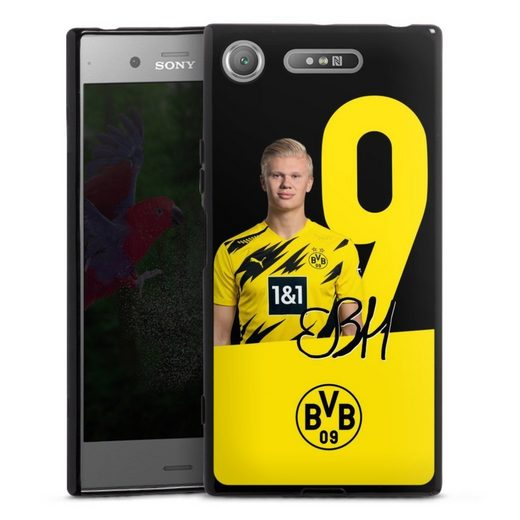 DeinDesign Handyhülle »Haaland No.9 - Saison 20/21« Sony Xperia XZ 1, Hülle Borussia Dortmund Erling Haaland BVB