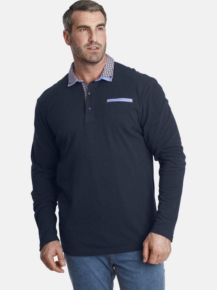 charles colby -  Langarm-Poloshirt »EARL CHAD« mit doppeltem Kragen