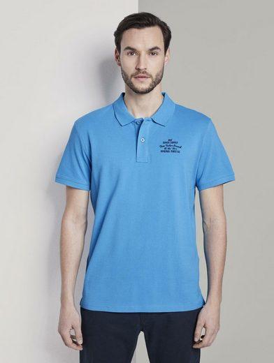 TOM TAILOR Poloshirt »Basic Poloshirt mit kleiner Stickerei«