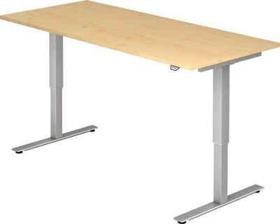 bümö Schreibtisch »OM-XMST19«, elektrisch höhenverstellbar - Rechteck: 180x80 cm - Dekor: Ahorn
