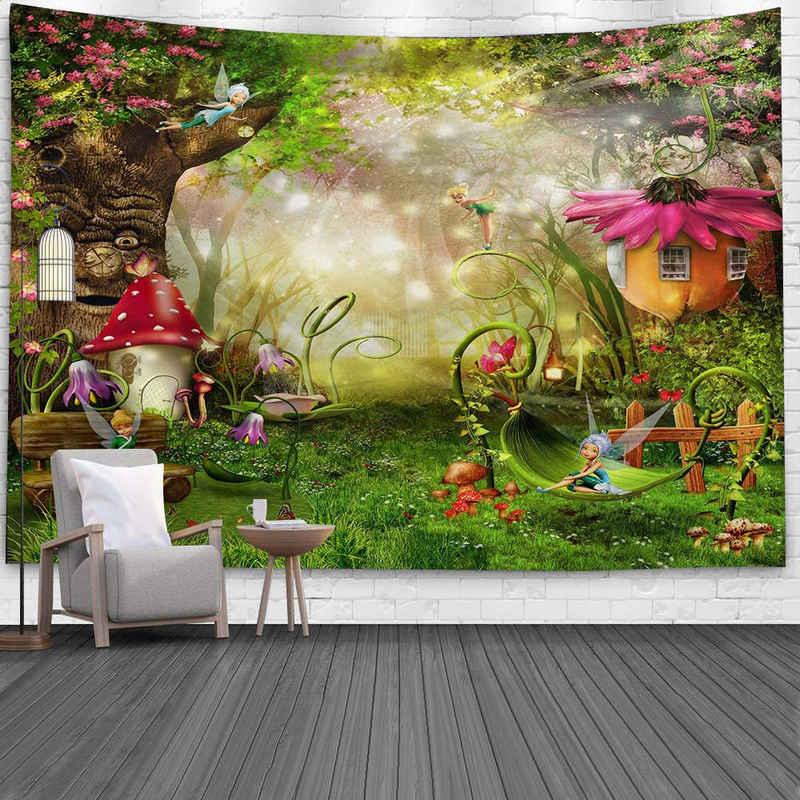 Wandteppich »Wandbehang«, Masbekte, Psychedelisch Boho Tapisserie, Wandkuns, Wandtuchst, Tagesdecke, Strandtuch, Deko