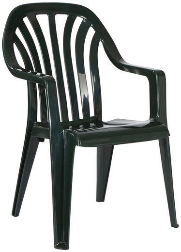 Best Gartenstuhl »Laredo« (Set, 4 Stück), 4er Set, Kunststoff, stapelbar, grün