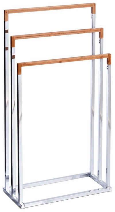 Zeller Present Handtuchständer, Bambus/Metall verchromt, 45x21,5x84,5 cm