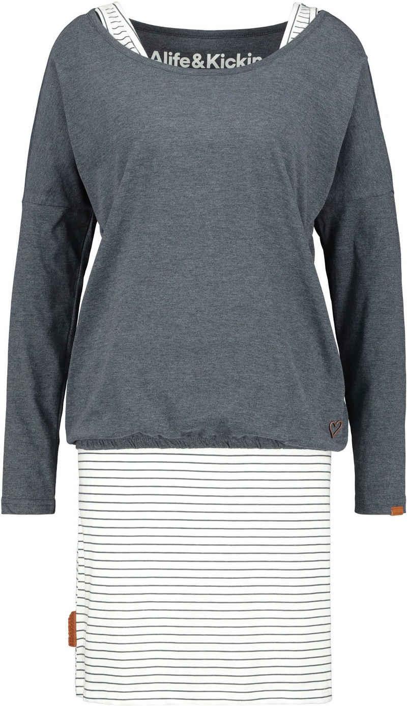 Alife & Kickin Jerseykleid »SunnyAK« (Set, 2-tlg., mit T-Shirt) süßes Kleid im 2-in1-Style