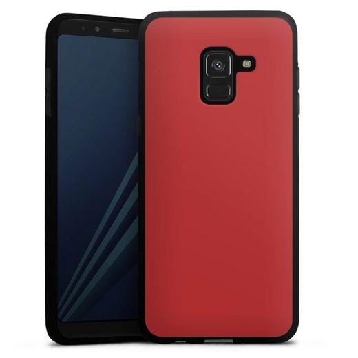 DeinDesign Handyhülle »Karminrot« Samsung Galaxy A8 (2018), Hülle Rot einfarbig Thermomixmotive