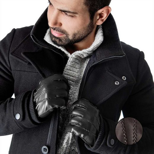 Tarjane Lederhandschuhe »Kaschmir« Herren Winterhandschuhe