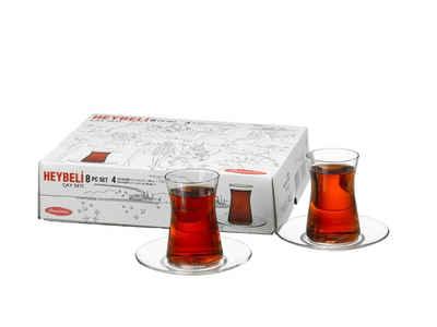 Pasabahce Teeglas »Türkische Teegläser Set für 4 Personen«, Glas, modernes Design