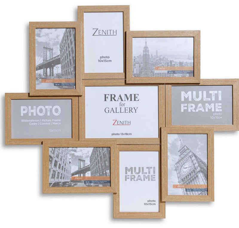 Victor (Zenith) Bilderrahmen Collage »Galerierahmen«, für 9 Bilder, 8 x 10x15cm, 1 x 13x18cm, Deko Wohnzimmer, Wanddeko, Dekoration