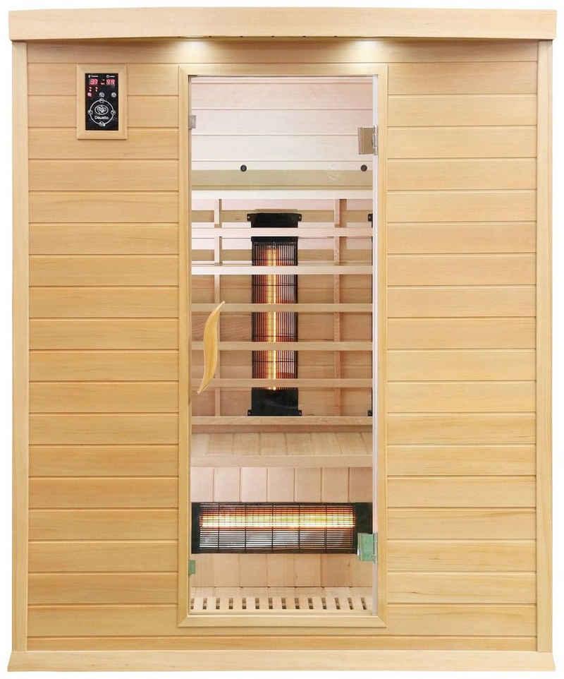 Dewello Infrarotkabine »Pierson Dual-Therm«, BxTxH: 160 x 105 x 190 cm, 50 mm, für bis zu 3 Personen