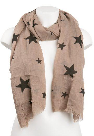 CASSANDRA Schal mit trendigen Sternendetails