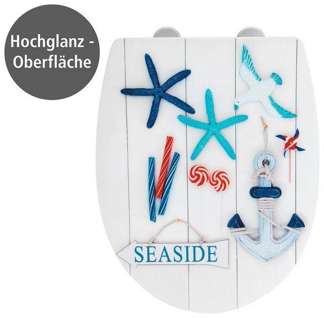 WCs und Zubehör - WENKO WC Sitz »Seaside High Gloss« (1 St), Thermoplast  - Onlineshop OTTO