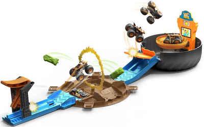 Hot Wheels Spiel-Gebäude »Monster Trucks Stunt-Reifen«, inklusive Tiger Shark Monster Truck und Hot Wheels Fahrzeug