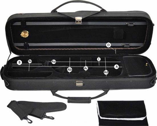 Steinbach Violinen-Koffer »Steinbach 4/4 Geigenkoffer Rechteckmodell mit Reflektorstreifen und versenkbarer Rucksackgarnitur«