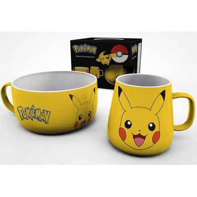 POKÉMON Tasse »Pokémon Frühstücks-Set: Pikachu«