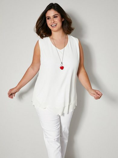 Sara Lindholm by HAPPYsize Shirttop in leicht taillierter Form