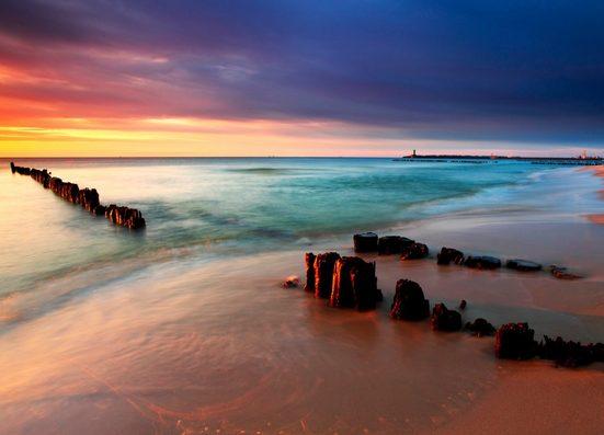 Fototapete »Baltic Beach Sunrise«, glatt