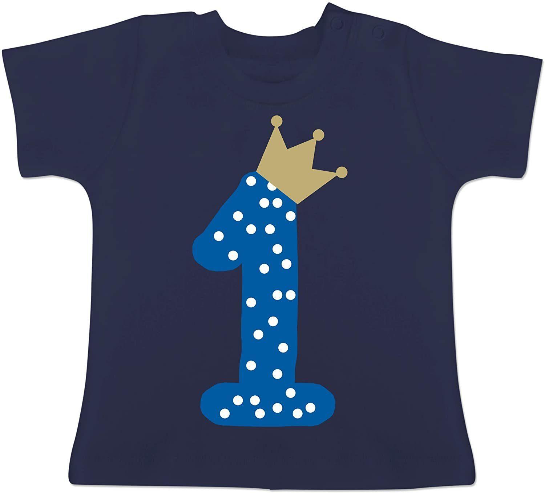Baby T-Shirt Kurzarm /… 1 Geburtstag Krone M/ädchen Erster Geburtstag Baby