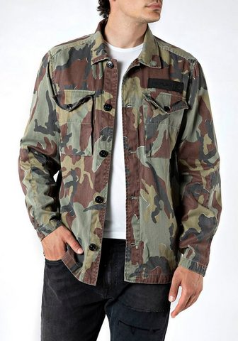 Replay Fieldjacket stilingas tarnfarben-Look