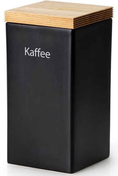 Continenta Kaffeedose, Keramik, Holz, (1-tlg), Kaffeedose
