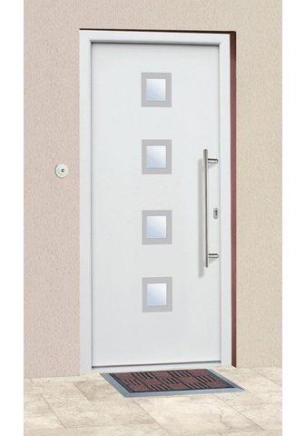 KM Zaun Haustür »A05« BxH: 98x208 cm weiß in 2...