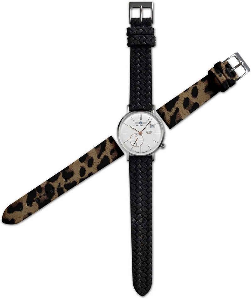 ZEPPELIN Quarzuhr »Rome, kleine Sekunde, 7139-4_setO«, (Set, 3-tlg., Uhr mit zusätzlichem Lederband und Wechselwerkzeug), Sondermodell OTTO