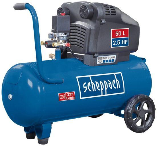 Scheppach Kompressor »HC54«, 1500 W, max. 8 bar, Inklusive 280 ml Kompressorenöl Ultra Performance Longlife SAE 5W-40
